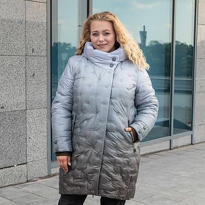Пальто зимние женские  больших размеров   50-58 хаки