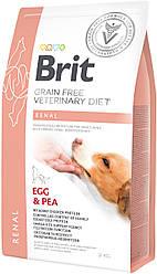Корм для собак Brit GF VetDiets Dog Renal 2 kg при нирковій недостатності з яйцем, горохом і гречкою