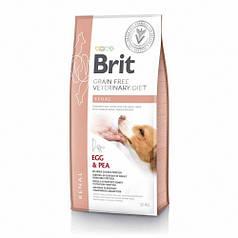 Корм для собак Brit GF VetDiets Dog Renal 12 kg при нирковій недостатності з яйцем, горохом і гречкою