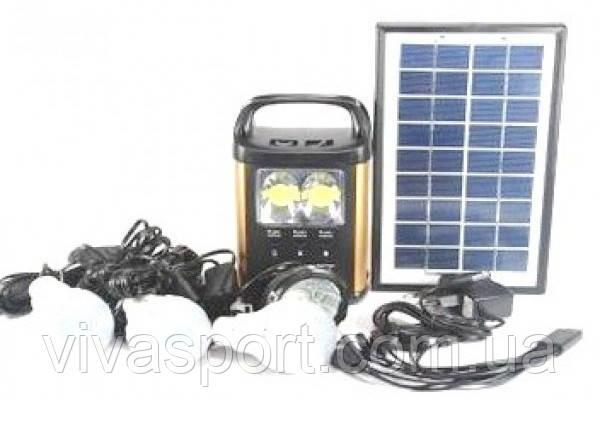 Солнечная электростанция с фонариком и 3 лампочками GDLite GD-8131, фото 1