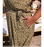 / Размер 46-48,50-52,54-56,58-60 / Женское летнее очаровательное приталенное платье / 1038Б-Светло-Коричневый, фото 3