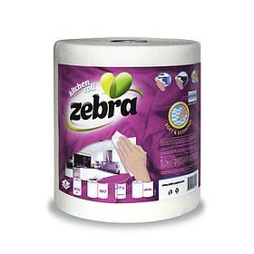 Кухонні рушники ZEBRA Economy 2-куля,1 шт/уп, 34,5 м, 300г (3800090304524)