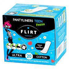 Щоденні гігієнічні прокладки fantasy FLIRT Teen Ultra Fresh Line, Cotton в індивідуальній упаковці, 20