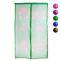 Москитная сетка 120х210см Зеленая с рисунком, противомоскитная сетка от мух на двери (антимоскітна сітка) (TI)