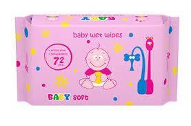 Вологі серветки 72 шт NORMAL clinic BABY Soft (3800213311118)