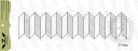 Штамп для создания фона Паркетик, 10х2,5 см, F129a