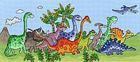 """Набор для вышивания Dinosaur Fun """"Веселі динозаври"""", XJR22"""