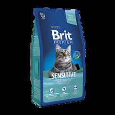 Корм BRIT Premium Cat Sensitive 8 кг - для кошек с чувствительным пищеварением Порез 2 см