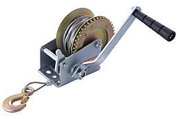 Лебедка барабанная Mastertool - 450 кг x 10 м трос (86-8145), (Оригинал)