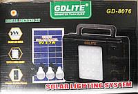 Аккумуляторный фонарь c солнечной батареей GDLite GD-8076 (солнечная система GD 8076)