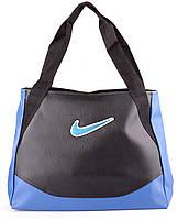 Сумка Nike цвет черный с голубым 37х31х14 SOR /0-591