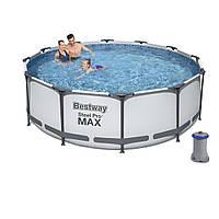 Каркасный бассейн Bestway 56260, 366х100 см, насос 2 006 л/ч,  объем 9150 л