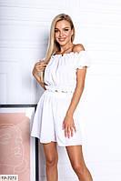 Прогулянковий костюм жіночий літній молодіжний топ з шортами-спідницею р-ри 42-48 арт. 101