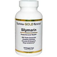 Силимарин 120 капс 300 мг  гепатопротектор  очищение печени и желчного пузыря California Gold Nutrition USA