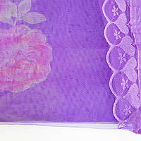Москитная штора на магнитах Фиолетовая с рисунком, маскитная сетка на дверь 120х210 см (москитна сітка) MKRC