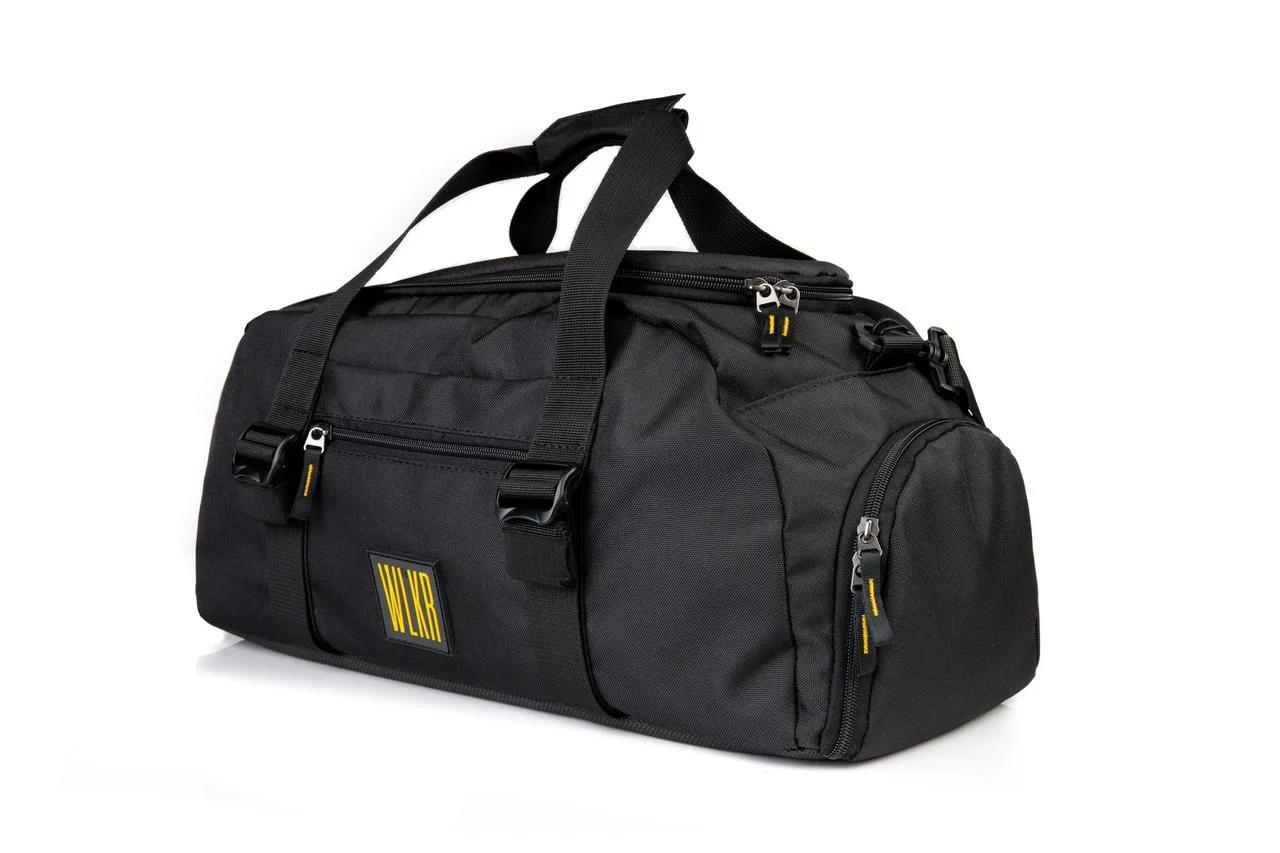 Спортивна сумка з відділом для взуття WLKR (чорна)