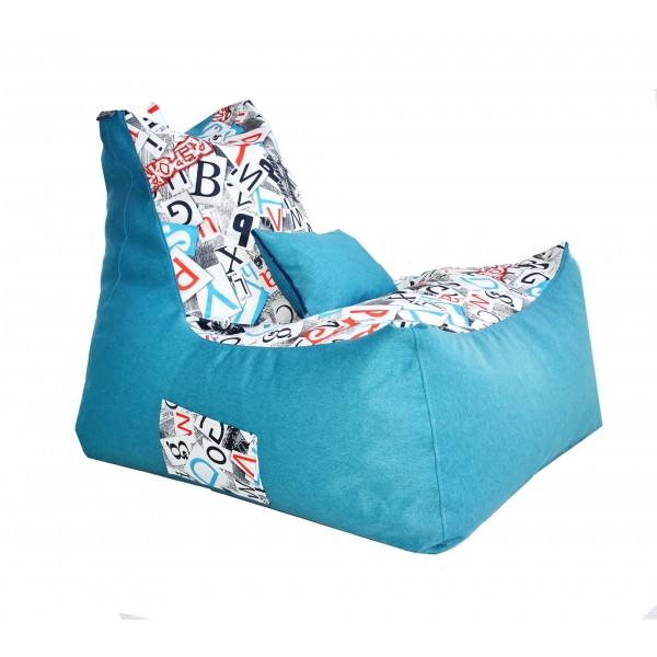 Безкаркасне крісло Tia-Sport Барселона велюр 60х90х70 см світло-блакитний (sm-0845)