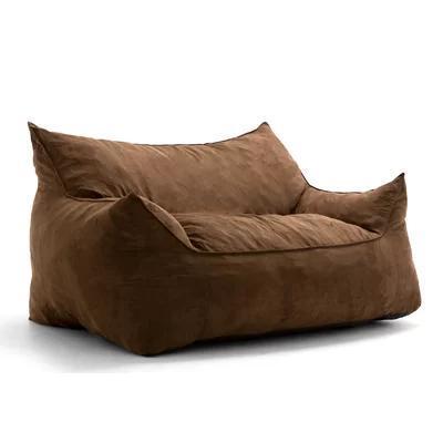 Бескаркасный диван Tia-Sport Летучая мышь 152х100х80 см коричневый (sm-0696)