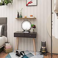 Туалетний столик + табурет AVKO ADT 008 Black LED підсвічування, фото 1