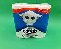 Туалетная бумага  белая Диво SOFT ( 4 шт/пач)