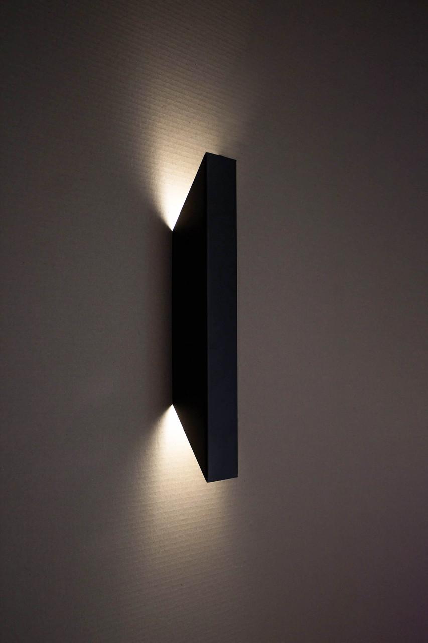Світильник настінний MSK Electric бра під дві лампи NL 24101-1 BK чорний