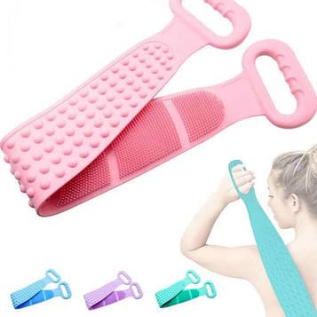 Силіконова щітка для душу Silicon bath towel Багатофункціональний силіконовий масажер для ванної Dual Brush
