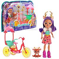 Игровой набор куклы Энчантималс «Хобби на колесах» Enchantimals Олениха Дениса с питомцем, (FJH11)