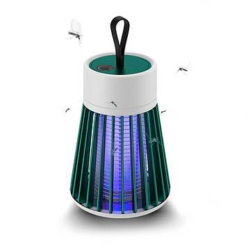 Лампа від комарів mosquito killer lamp BG-002 Зелена, електрична пастка для комарів, знищувач (ST)