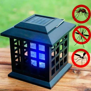 Світлодіодна лампа від комарів вулична Solar Monster Zapper 2в1, ліхтар від комарів на сонячній батареї (ST)
