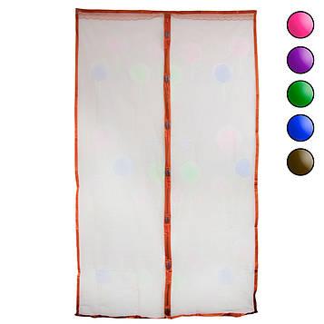 Москітна сітка на двері з малюнком Коричнева 120х210 см, штора на магнітах (москітна сітка) (NS)
