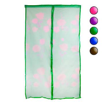 Москітна сітка 120х210см Зелений з малюнком, протимоскітна сітка від мух на двері (антимоскітна сітка) (NS)
