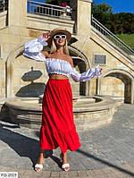 Летний костюм женский юбочный топ с длинной юбкой в пол расклешенной р-ры 42-46 арт. 0310