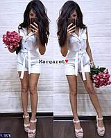 Стильный комбинезон женский облегающий джинсовый с короткими шортами  р-ры S, M арт. 5834
