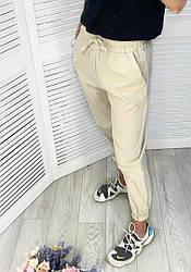 Женские льняные штаны на резинке