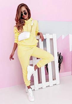 Яркий Женский Молодежный спортивный костюм двунить жёлтый розовый пудра белый.Новое поступление 💥