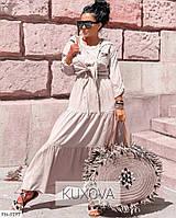 Жіночий костюм літній натуральний штапель сарафан в підлогу з сорочкою р-ри 42-48 арт. 3115