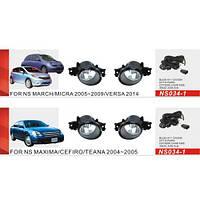 Фари дод. модель Nissan Maxima/Cefiro/Qashqai/Teana/Micra/NS-034-1/ел.проводка (NS-034-1)