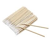 Ватні бамбукові палички дерев'яні ультратонкі в пакеті для фарбування брів і вій 100 штук, фото 2