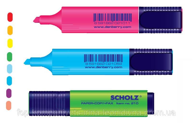 Текст-маркер SCHOLZ1-5 мм зелений (10шт/уп)