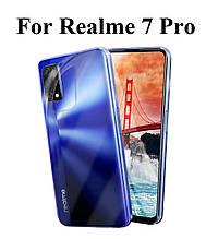 Силиконовый прозрачный чехол для Realme 7 Pro