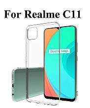Силиконовый прозрачный чехол для Realme C11