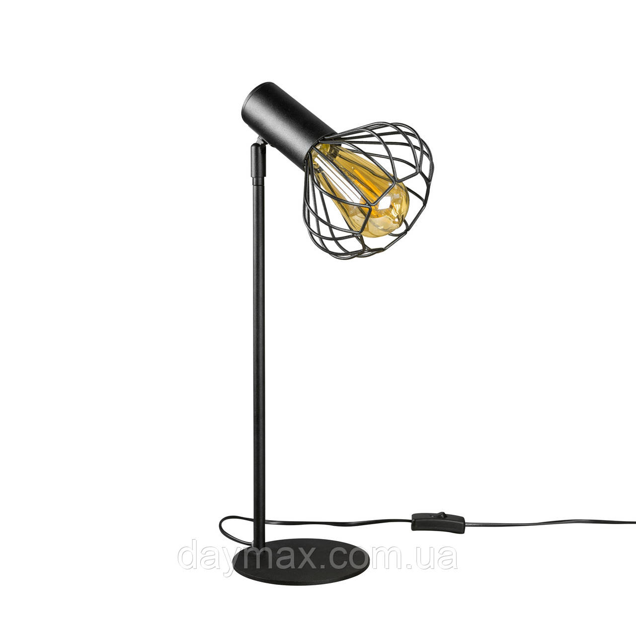 Настольная лампа лофт MSK Electric Lotus NL 14153 BK+BN