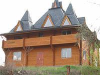 Деревяный дом сруб как образец.