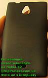 Nokia_X2, силиконовый черный чехол, фото 3