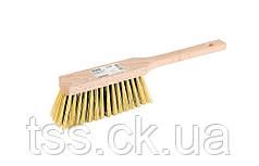 Щітка для сміття з дерев'яною ручкою 370*40*70 мм ПП 5-рядна ГОСПОДАР 14-6347