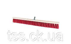 Щетка промышленная MASTERTOOL 800х60х100 мм ПЭ+ПВХ деревянная с металлическим креплением без ручки 14-6366