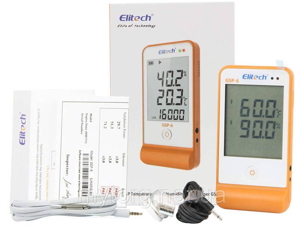 Регистратор данных Elitech GSP-6 с выносными датчиками