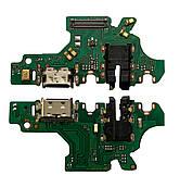 Нижняя плата Huawei P30 Lite (2019) с конектором зарядки + микрофон + компоненты