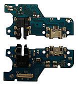 Нижняя плата Huawei Y6p (2020) с конектором зарядки + микрофон + компоненты