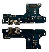 Нижняя плата Huawei Y7 Pro 2019 с конектором зарядки + микрофон + компоненты